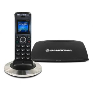 Sangoma D10M DECT IP phone handset and base station