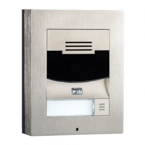 wall mounted video IP 1 button intercom