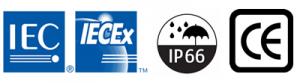Conforms to IEC IP66 CE