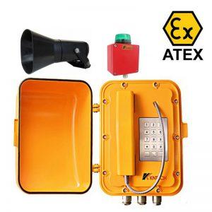 KNEX08 VoIP Intrinsically safe broadcasting telephone