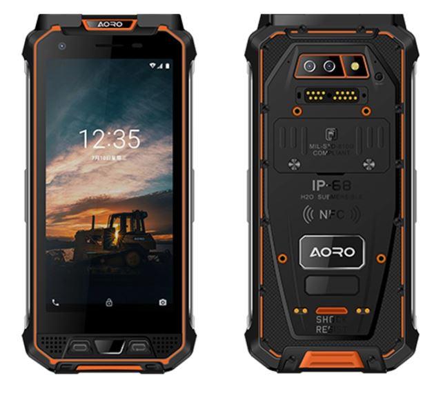 Aoro M5 ATEX rugged and durable orange smart phone
